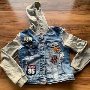 Girls 1St patchwork denim jacket  size L